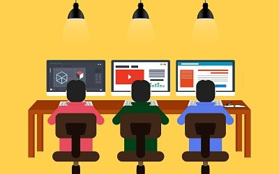 Business hosted PBX for coworking spaces