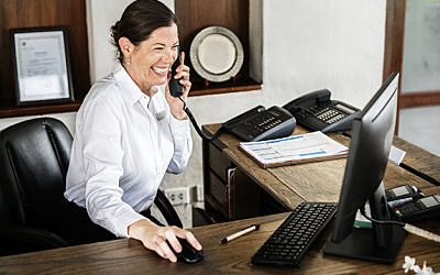 How can I take calls without a secretary?